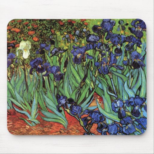 Iris de Van Gogh, art vintage de post Tapis De Souris