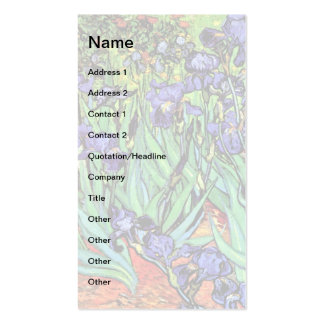 Iris de Van Gogh Cartes De Visite Personnelles