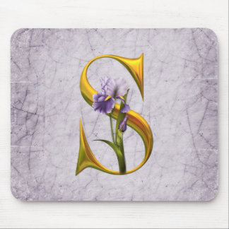 Iris Fantasy Monogrammed Mouse Pad