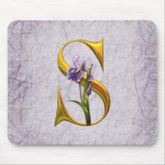 Iris Fantasy Monogrammed Mousepads