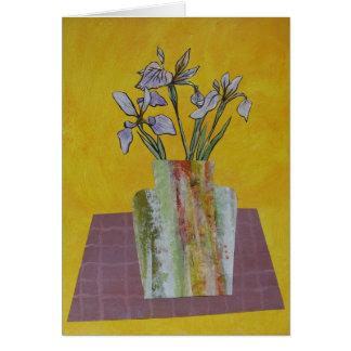 Iris floral arrangement card
