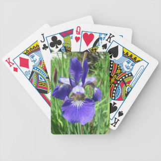 Iris Flower Blue Flag Bicycle Playing Cards