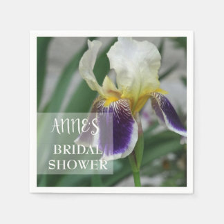 Iris Flower Bridal Shower Paper Napkins