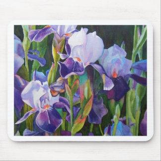 Iris Flower Garden Mouse Pad
