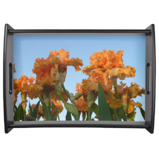 IRIS FLOWER SERVING TRAY