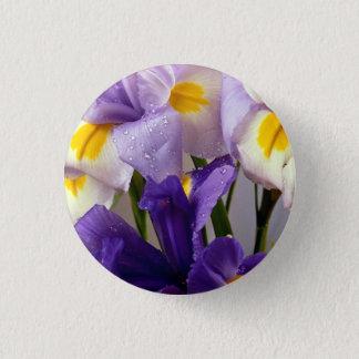 Iris flowers 1 inch round button
