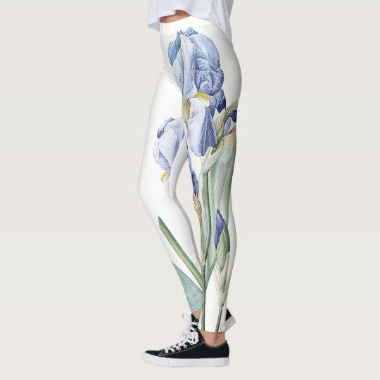 Iris Flowers Floral All Over Print Leggings