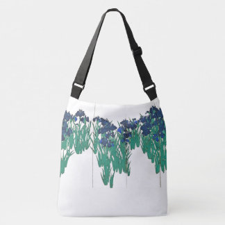 Iris Flowers Garden Asian Screen Art Tote Bag