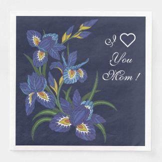 Iris Flowers Paper Napkins