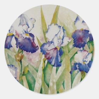 iris garden 2 classic round sticker
