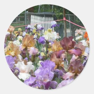 Iris Garden Classic Round Sticker