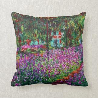 Iris Garden in Giverny Monet Fine Art Throw Pillow