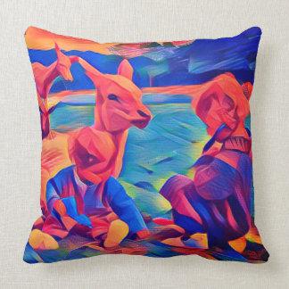 Iris & Gloria Throw Pillow