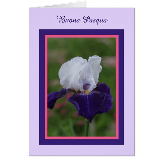 Iris Happy Easter in Italian -- Buona Pasqua Card