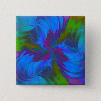 Iris in Blue 2 Inch Square Button