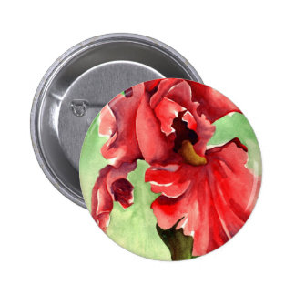 Iris in Watercolor - Withanf Fine Art 2 Inch Round Button