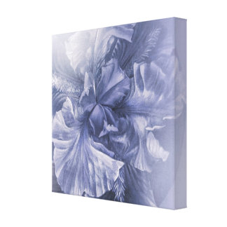 Iris inner beauty anniversary silver hue canvas print