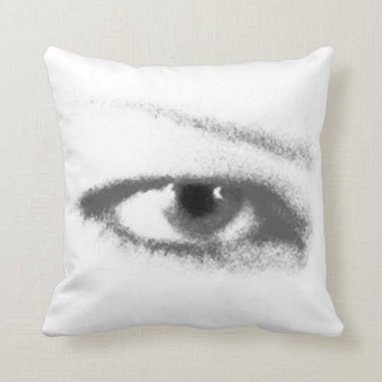 "IRIS IRIS pillow poly 16"" b&w"