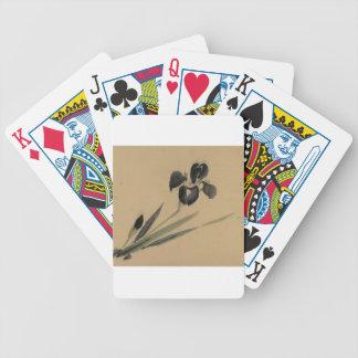 Iris Japanese Ukiyo-e Art Bicycle Playing Cards