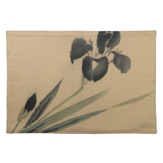 Iris Japanese Ukiyo-e Art Placemat