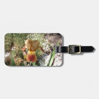 Iris jaune étiquette à bagages