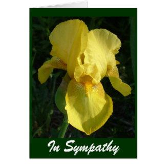 Iris jaune carte de vœux