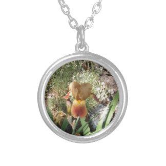 Iris jaune pendentif