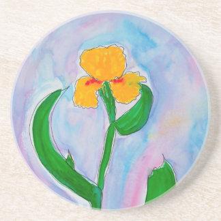 Iris jaune dessous de verres