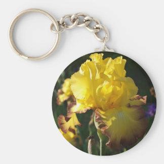 Iris jaune ensoleillé porte-clef