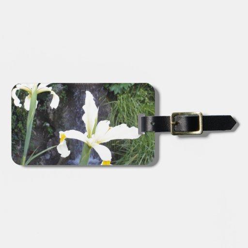 Iris jaune pâle étiquette pour bagage