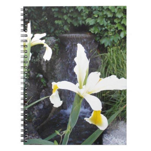 Iris jaune pâle carnet à spirale