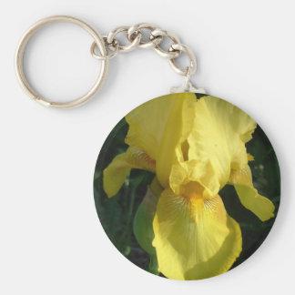 Iris jaune porte-clé rond
