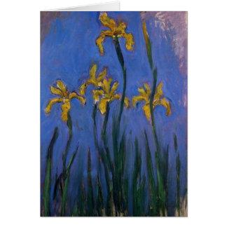 Iris jaunes cartes de vœux