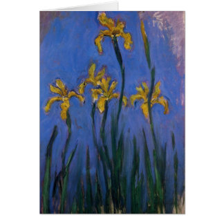 Iris jaunes carte de vœux