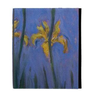 Iris jaunes coque folio iPad