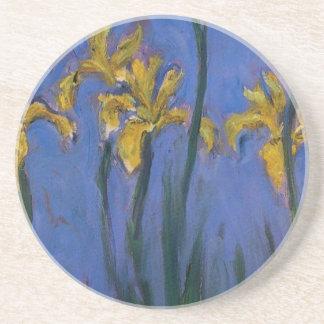 Iris jaunes dessous de verre
