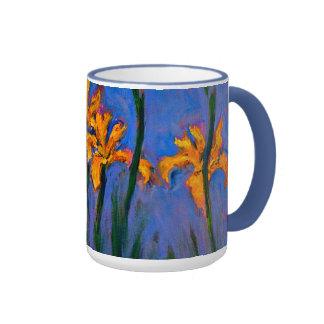 Iris jaunes de Monet- Mug Ringer