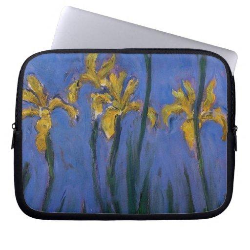 Iris jaunes housse ordinateur