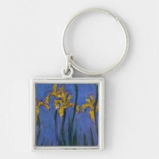 Iris jaunes porte-clef