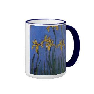 Iris jaunes tasse à café
