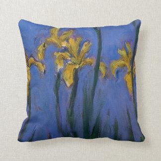 Iris jaunes oreillers