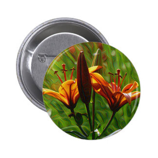 Iris, Lilly, Lily, DeepDream style 2 Inch Round Button