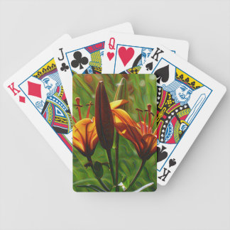 Iris, Lilly, Lily, DeepDream style Bicycle Playing Cards
