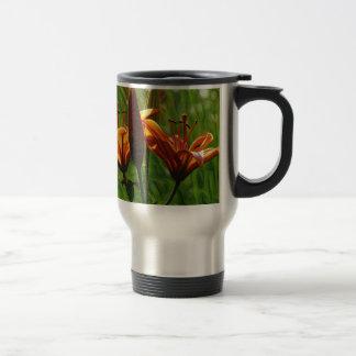 Iris, Lilly, Lily, DeepDream style Travel Mug