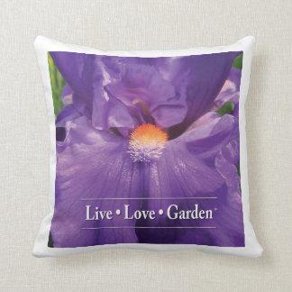 """Iris Live Love Garden Throw Pillow 16"""""""