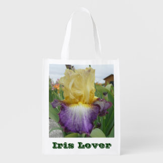 IRIS LOVER REUSABLE BAG WITH IRIS PHOTO