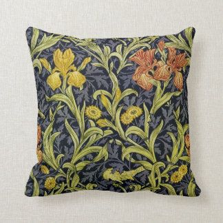 Iris Nights Throw Pillow