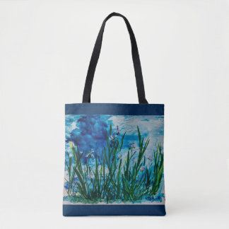 Iris on the Water Edge All-Over-Print Tote Bag