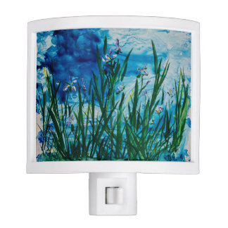 Iris on the Water Edge Nightlight Night Lite