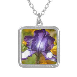 Iris pourpre pendentifs